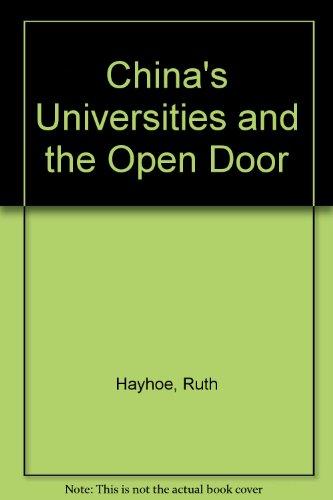 9780774403269: China's Universities and the Open Door