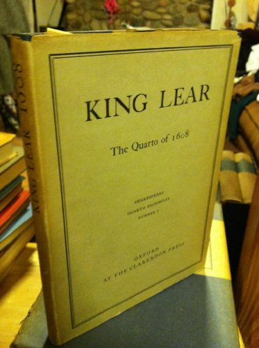 King Lear. 1608 ( Pied Bull Quarto): William Shakespeare