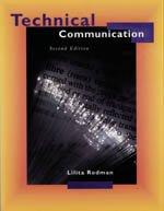 Technical Communication - Second Edition: Lilita Rodman