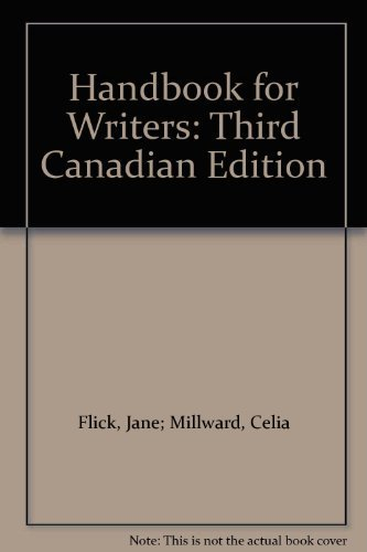 9780774736077: Handbook for Writers: Third Canadian Edition