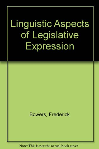 9780774803243: Linguistic Aspects of Legislative Expression
