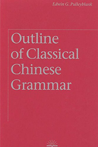 9780774805056: Outline of Classical Chinese Grammar
