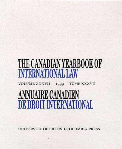 The Canadian Yearbook of International Law/Annuaire Canadienne De Droit International: McRae, Don M...