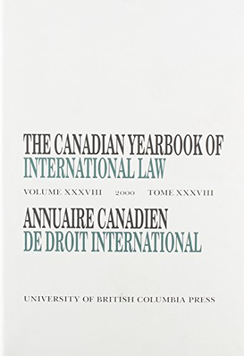 The Canadian Yearbook of International Law: 2000: Mcrae
