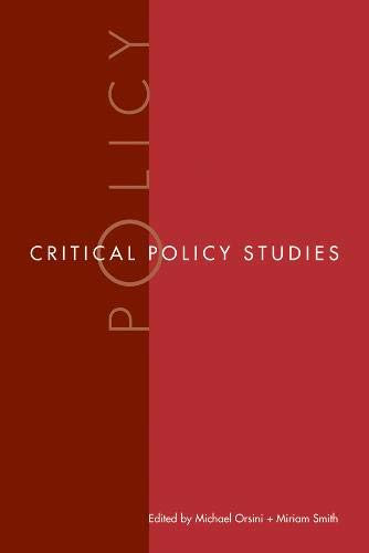 9780774813174: Critical Policy Studies