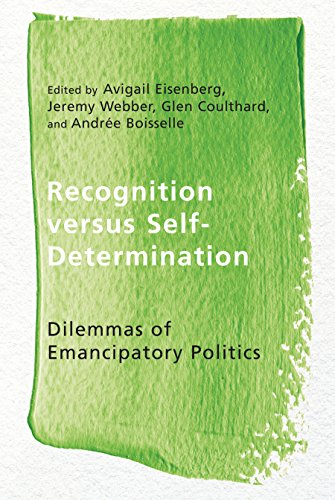 9780774827416: Recognition Versus Self-Determination: Dilemmas of Emancipatory Politics (Ethnicity and Democratic Governance)