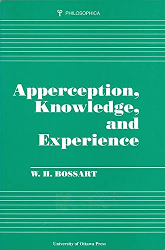 9780776603971: Apperception, Knowledge, and Experience (Philosophica)