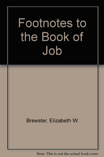 9780778010111: Footnotes to the Book of Job