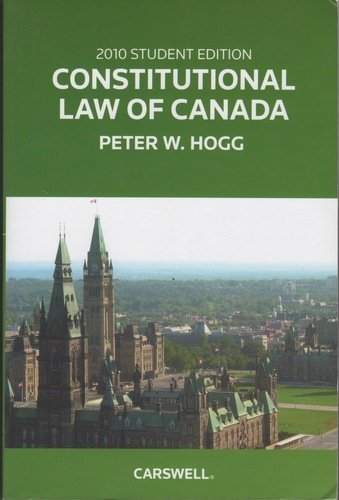 9780779827329: Constitutional Law of Canada 2010
