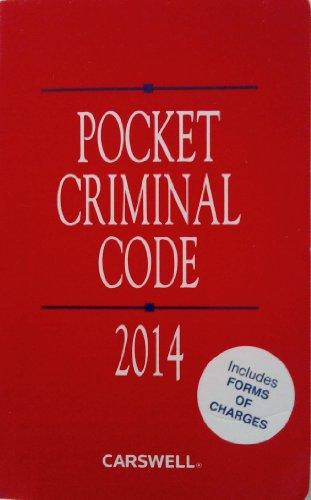 9780779853014: Pocket Criminal Code 2014