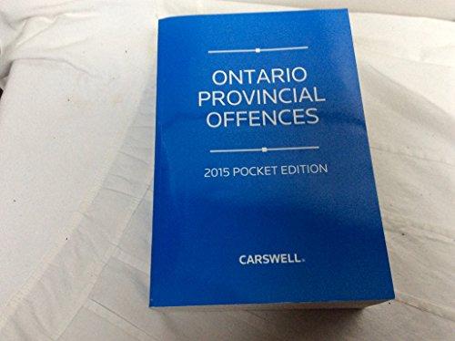 9780779861538: Ontario Provincial Offences 2015 Pocket Edition
