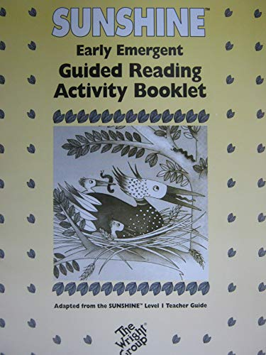 9780780230590: Sunshine Early Emergent Guided Reading Activity Booklet