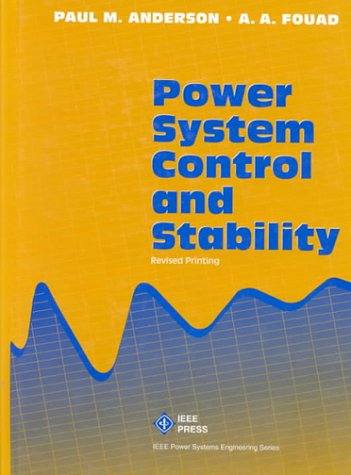 9780780310292: Power System Control and Stability