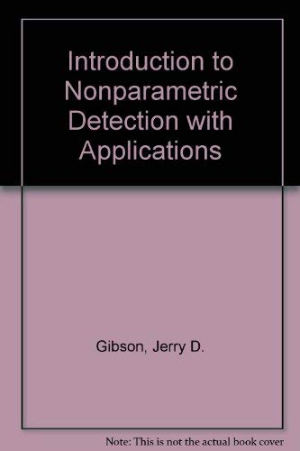 9780780311619: Introduction to Nonparametric Detection With Applications