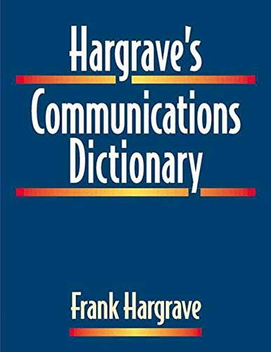 9780780360204: Hargrave's Communications Dictionary