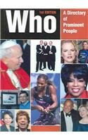 9780780807037: Who: A Dir of Prominent People 2005 (Who: A Directory of Prominent People)