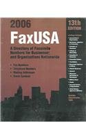 FaxUSA 2006: A Directory of Facsimile Numbers: Editor-Darren Smith; Editor-Penny
