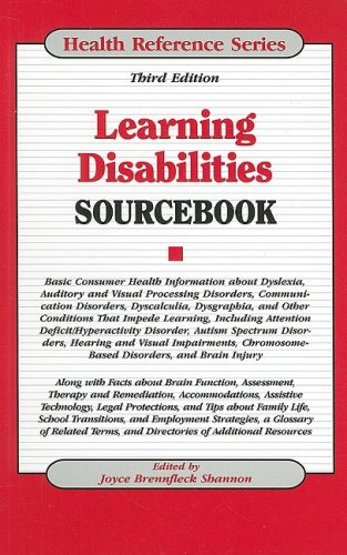 9780780810396: Learning Disabilities, Sourcebook (Health Reference Series)