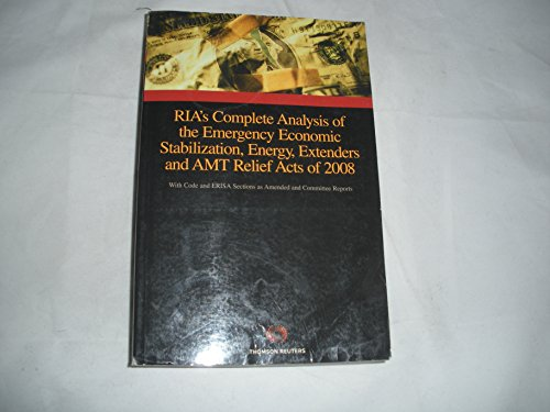 RIA's Complete Analysis of the Emergency Economic: Thomson Reuters; Zelman,