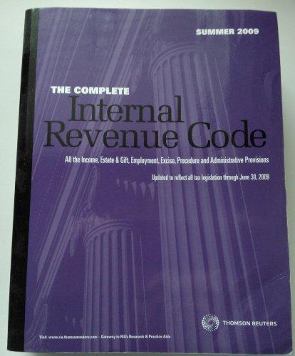 9780781104135: The Complete Internal Revenue Code Summer 2009