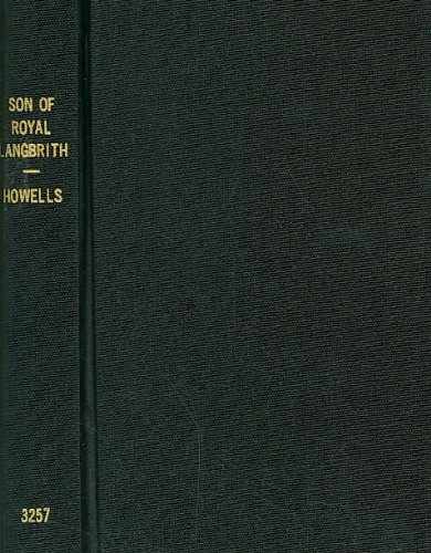9780781232579: The Son of Royal Langbrith (Notable American Authors Series)