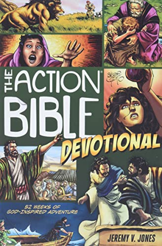 9780781407274: Action Bible Devotional: 52 Weeks of God-inspired Adventure (Jones Jeremy V)