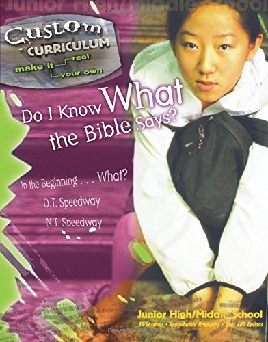 Do I Know What the Bible Says? (Custom Curriculum) (0781440866) by David C Cook