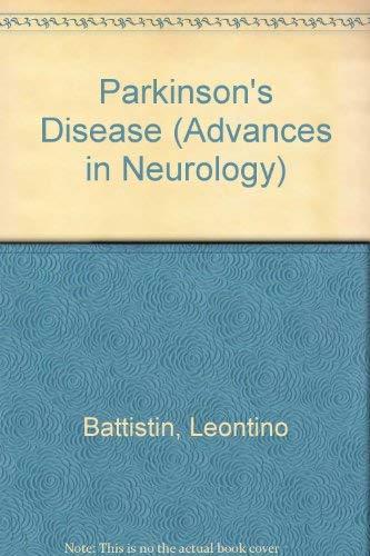 9780781703413: Parkinson's Disease (Advances in Neurology)
