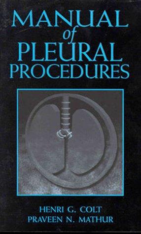 9780781714761: Manual of Pleural Procedures
