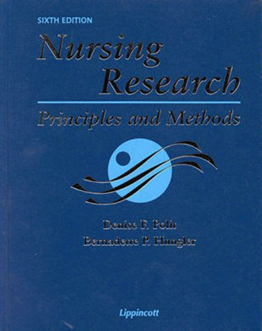 9780781715621: Nursing Research: Principles and Methods