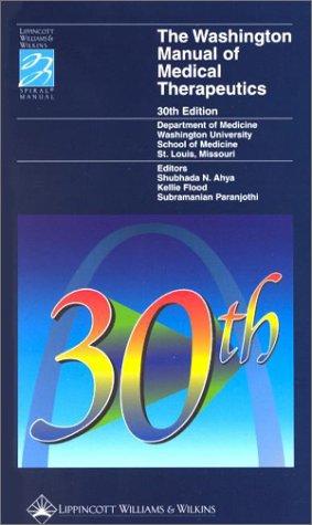 9780781723596: The Washington Manual of Medical Therapeutics