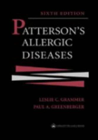 9780781723862: Patterson's Allergic Diseases (Allergic Diseases: Diagnosis & Management (Patterson))