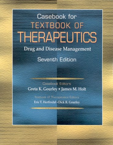 9780781724159: Casebook for Textbook of Therapeutics: Text and Casebook Set: Drug and Disease Management
