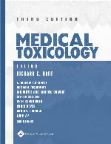 Medical Toxicology: Richard C. Dart (Editor)