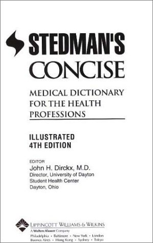 9780781730129: Stedman's Concise Medical Dictionary for the Health Professions: Illustrated (Book with CD-ROM)