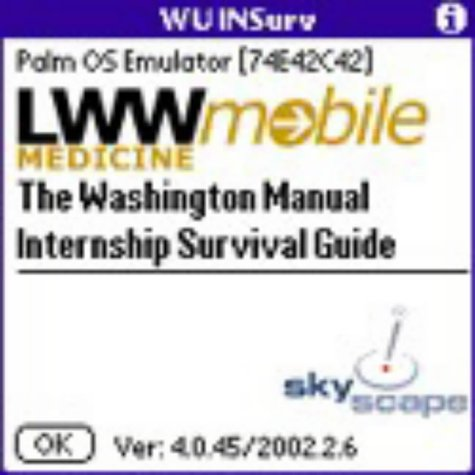 9780781734875: The Washington Manual Internship Survival Guide (Palm Pilot PDA)