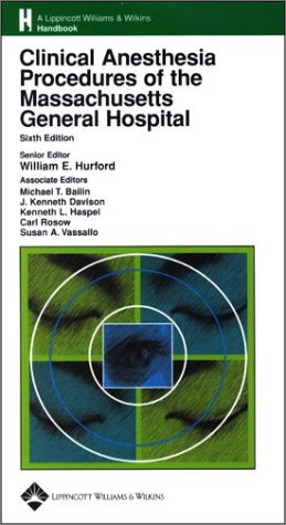 9780781737180: Clinical Anesthesia Procedures of the Massachusetts General Hospital