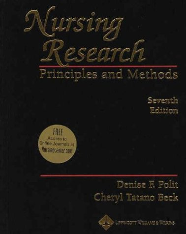 9780781737333: Nursing Research: Principles and Methods (Nursing Research: Princ & Practice ( Polit))