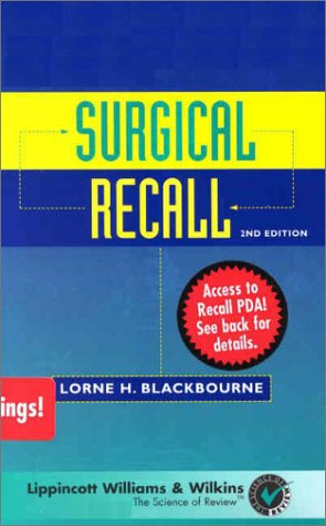 9780781738460: Surgical Recall (Book with Any PDA)