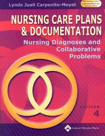 9780781739061: Nursing Care Plans and Documentation: Nursing Diagnosis and Collaborative Problems