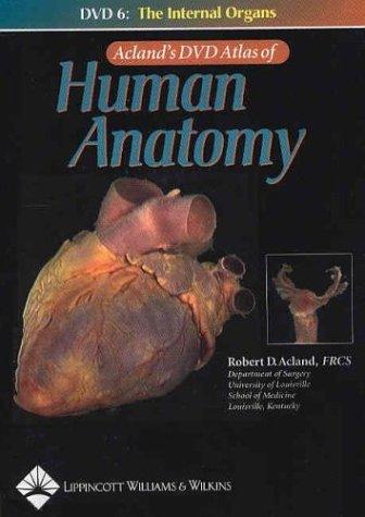 Aclands Atlas Human Anatomy Dvd By Robert Acland Abebooks