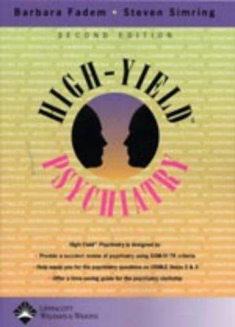 9780781742689: High-Yield™ Psychiatry (High-Yield Series)