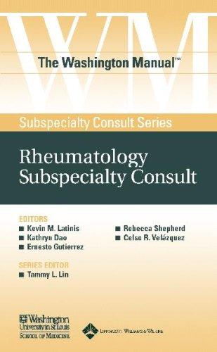 9780781743716: The Washington Manual® Rheumatology Subspecialty Consult (The Washington Manual® Subspecialty Consult Series)