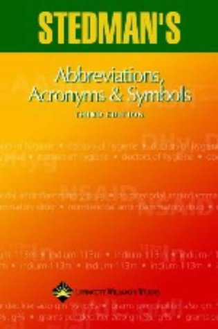 9780781744034: Stedman's Abbreviations, Acronyms & Symbols: Abbreviations, Acronyms & Symbols