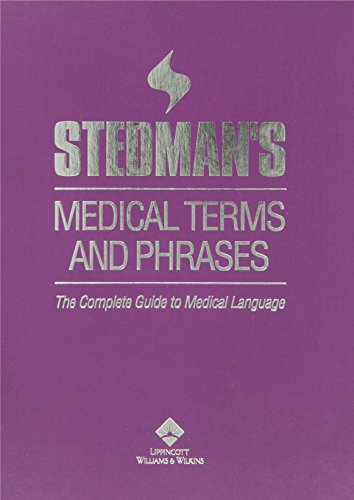 Stedman's Medical Terms and Phrases 9780781745437 Stedman's Medical Terms and Phrases includes over 240,000 medical terms and phrases for all medical specialties. Medical language professionals, medical transcriptionists, medical coders, students, medical secretaries, medical assistants, and court reporters will find this comprehensive publication essential in their professions and studies. The content is keyword cross-referenced so that users can not only find the phrase by first and last word, but also by other keywords contained in the phrase. In addition, comprehensive sound-alike, medical abbreviations, and building blocks of medical language appendices are included.