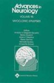 9780781752480: Myoclonic Epilepsies (Advances in Neurology)
