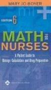 9780781753722: Math for Nurses: A Pocket Guide to Dosage Calculation and Drug Preparation
