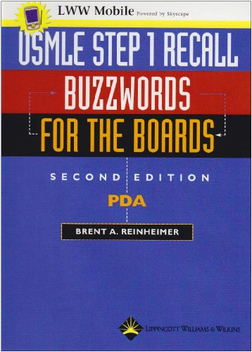 9780781754217: USMLE Step 1 Recall PDA: Buzzwords for the Boards: Powered by Skyscape, Inc. (Recall Series)