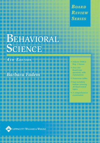 9780781757270: BRS Behavioral Science (Board Review Series)