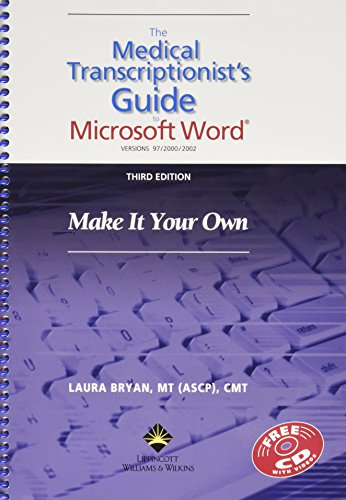9780781764872: Medical Transcriptionist's Guide To Microsoft Word: Make It Your Own